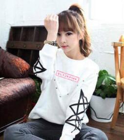 Kpop new idol group blackpink member name printing o neck sweatshirt
