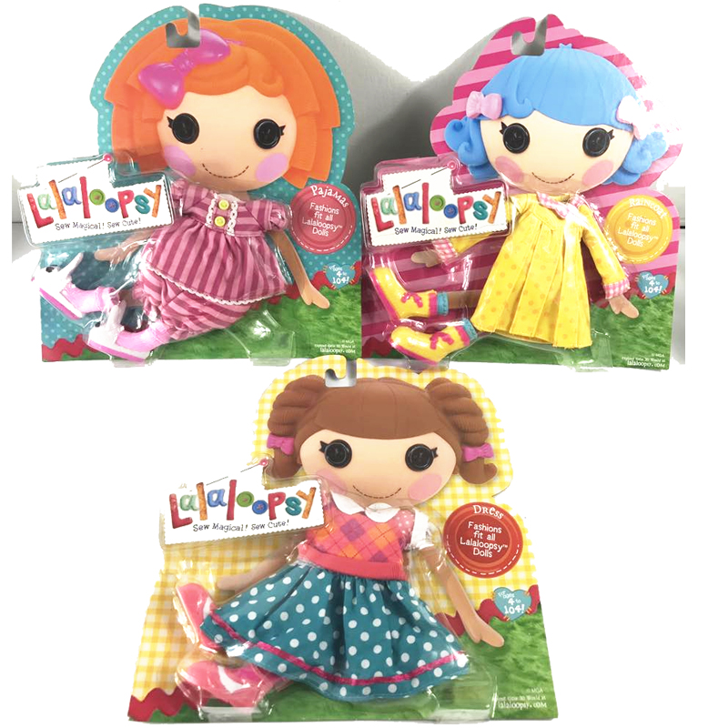 Original Lalaloopsy Klädpaket Party Dress Set Pajamasett Baddräkt Set Barn Presenter För Flickor Present Utanför Utskrift