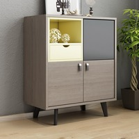 La Casa Shabby Chic Living Room Vintage Retro MDF Cabinet Organizer Furniture Mueble De Sala Chest Of Drawers Cabinet