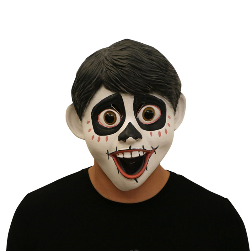 Halloween Horror Miguel Cosplay Mask Full Face Head Cover Latex Mask