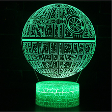 Star Wars Death Star Millennium Star warship mark 3D Lamp Game LED night light 7 Color