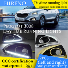 Hireno AUTO WAY For Peugoet 3008 2013-15 Car Daytime running lights Signal Function Relay Waterproof 12V