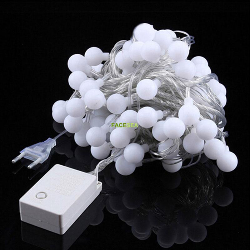 10M 220V vanjski višebojni LED žarulje svjetla božićne lopte - Rasvjeta za odmor - Foto 3