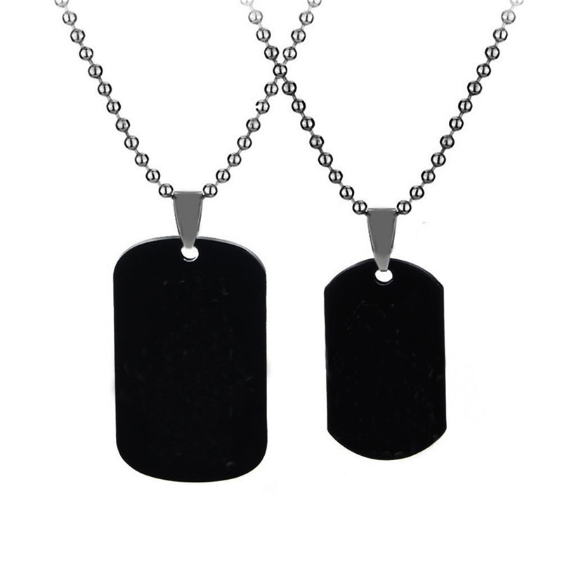 Black Necklaces & Pendants Her King And His Queen Couple Necklace Stainless Steel Pink Blue Crystal Couple Bracelet Necklace Set