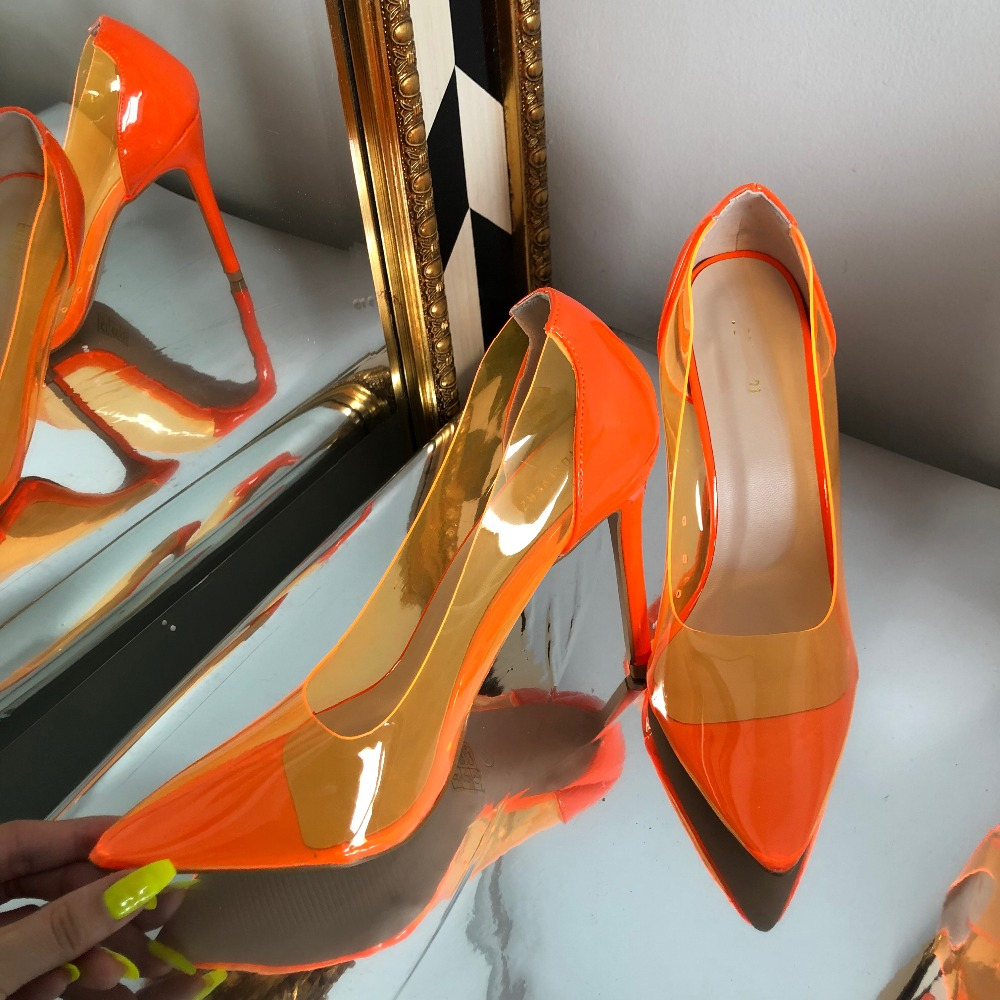 Women Sexy Transparent Pumps Shoes Women Pointy Toe Thin High Heels Dress Shoes 2019 Spring NewWomen Sexy Transparent Pumps Shoes Women Pointy Toe Thin High Heels Dress Shoes 2019 Spring New