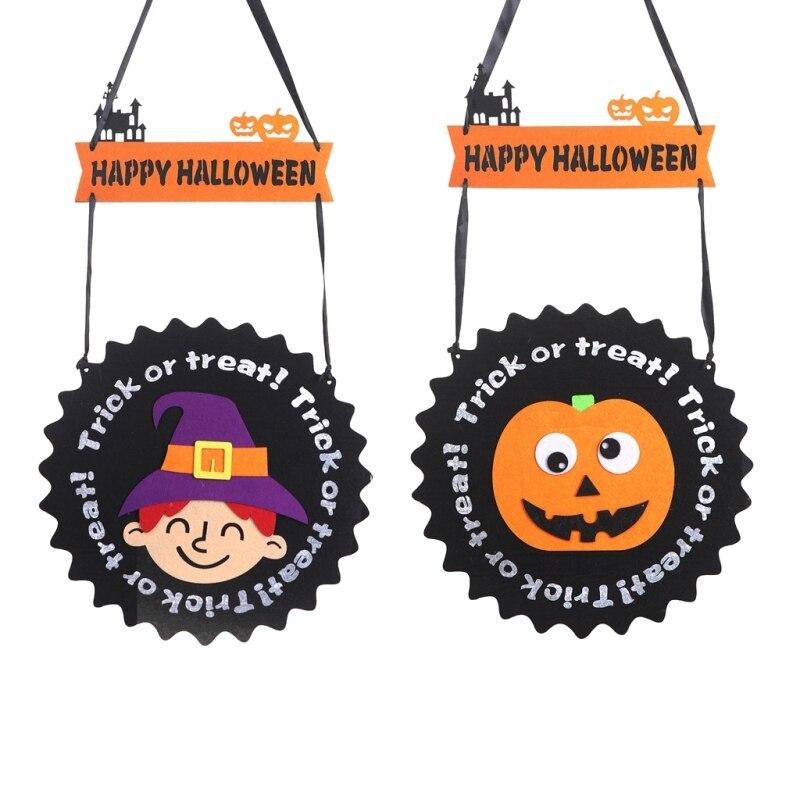 New Happy Halloween Trick Or Treat Hanging Ornament Wall Door Window Decoration Props Party Supplies