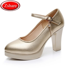 2019 new fashion pumps women shoes high heels leisure trend square heel pointed toe high heels shoes woman 35-44 size цена в Москве и Питере
