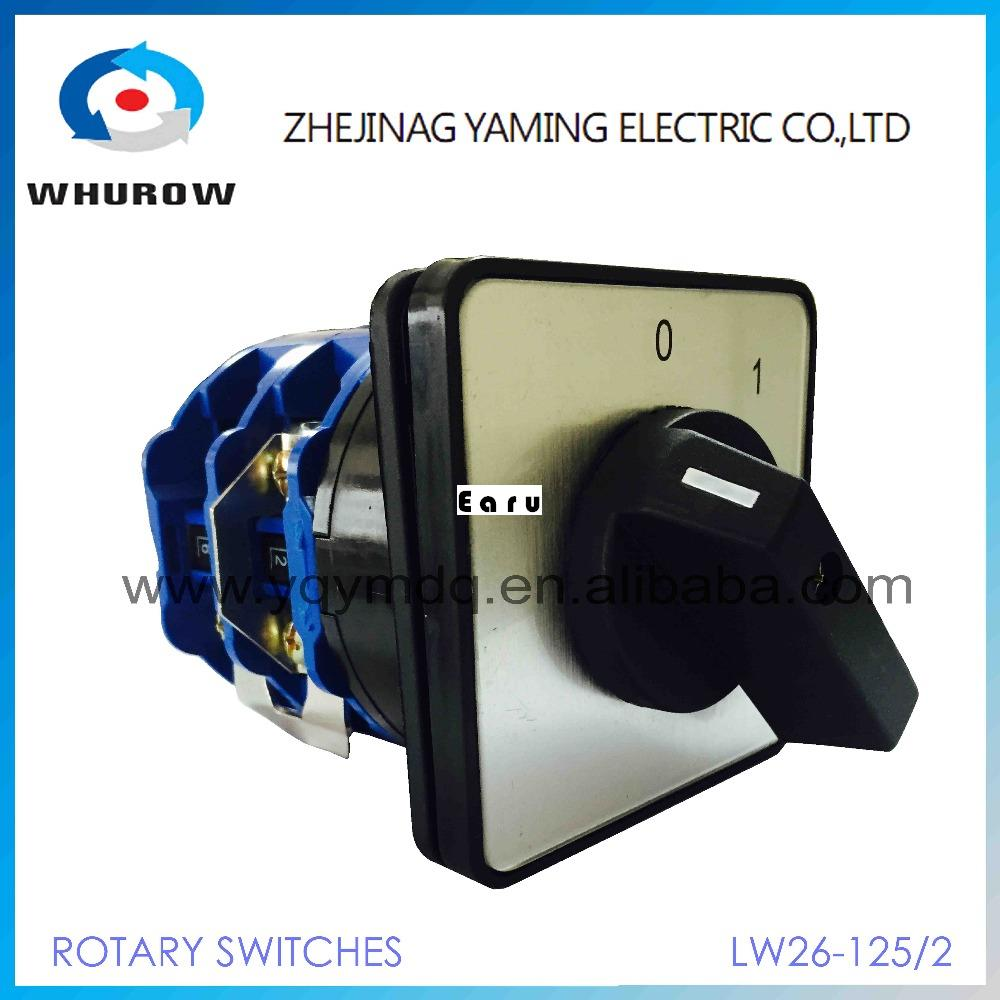 Rotary switch LW26-125/2 special red copper connection straps universal switch two poles 4 position switch changeover switch ardo flsn 125 lw