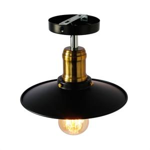Image 2 - תעשייתי תקרת תאורת תקרת בציר רטרו אורות תקרת מנורת בית תאורה סלון חדר אוכל חדר שינה תאורה