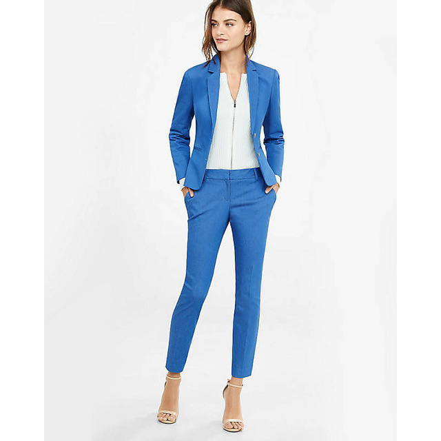 Blue Business 2 Piece Suit Womens Workwear Formal Womens Tailored