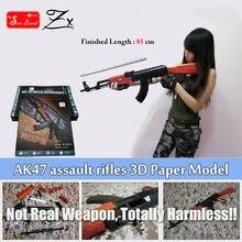 Новинка 2017 года масштабируется AK47 штурмовые винтовки 3D Бумага модель оригинальный твердый переплет России AK47 модель пистолет Игрушечные лошадки для взрослых детей легко TODO
