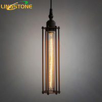 American Country Style Pendant Lights Retro Loft Iron Cages Pendant Lamp Home Decoration Droplight Vintage Hanging