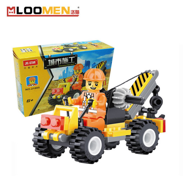 52pcs/set Small Crane DIY Building Blocks Children Toy Educational Puzzle Construction Bricks