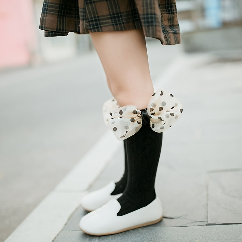 New Fall Winter Baby Boy Girls Pure Cotton Short Socks Fashion Kids Toddler Girl Knee High Long Socks With Bows