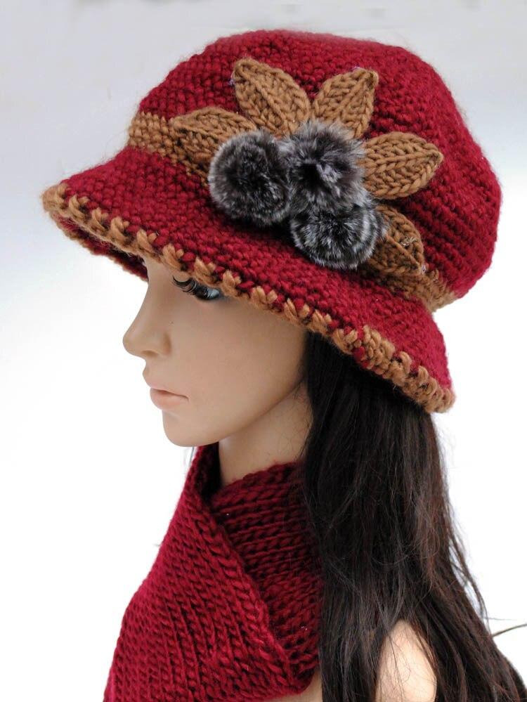 Compras libres 2018 moda lana sombreros del ganchillo para las ...