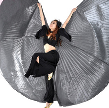 Gold Silver Egypt Oriental Belly Dance Butterfly Isis Wings Costume for Women Bellydance Indian Dancing Accessories Not Opening