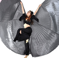 Women Belly Egypt Dance Gold Silver 360 Degree Isis Wings Oriental Dancing Costume Accessory Not Opening