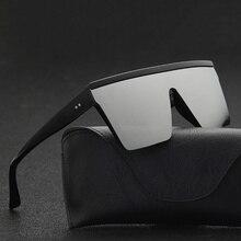Мужские солнцезащитные очки с плоским верхом, мужские брендовые черные квадратные очки UV400, градиентные солнцезащитные очки для мужчин, крутые цельные дизайнерские очки