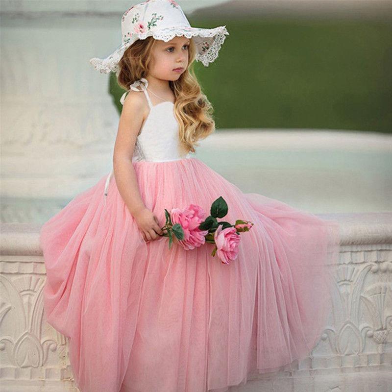 1-7Y Pudcoco Bebê Miúdo Meninas Vestido de Tule Tutu Crianças Roupas de Verão Princesa Festa De Casamento Maxi Vestidos Outfits детские платья