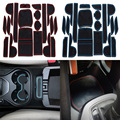 New Car Styling 19Pcs/Lot For Hyundai Santa fe 2013 2014 2015 LHD Latex Waterproof Anti Slip Gate Slot Mats Pad