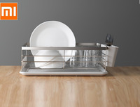 Xiaomi 304 stainless steel dish rack drain rack dish rack kitchen storage rack tableware storage box strong and sturdy