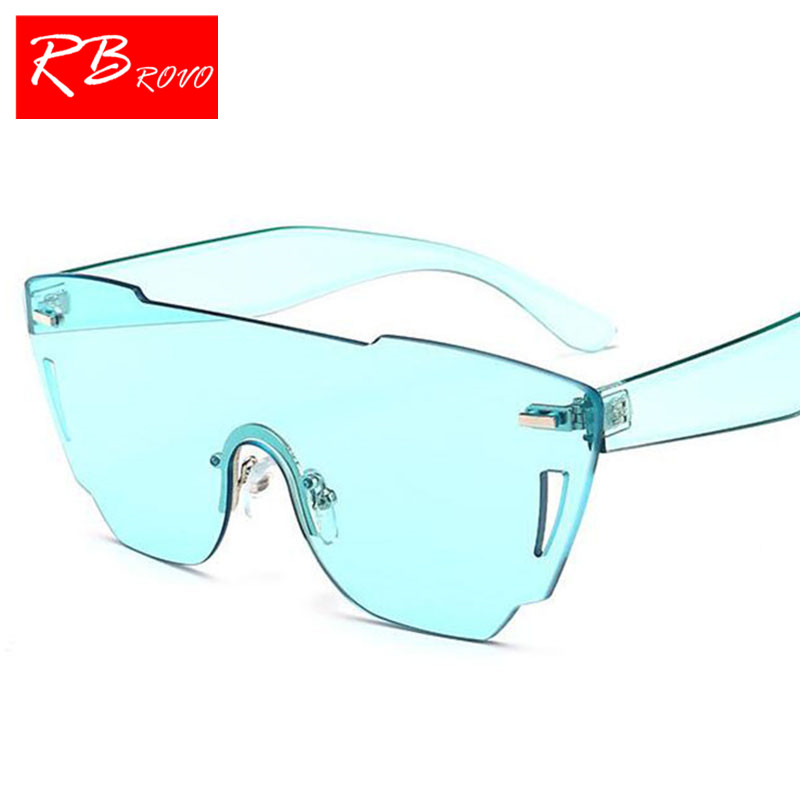 RBROVO 2018 One-piece Sunglasses Women Brand Designer Luxury Man/Women Sun Glasses Classic Vintage Shopping Glasses UV400