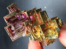 100-110g Bismuth rainbow bright crystal geode each weight element Bi Mineral