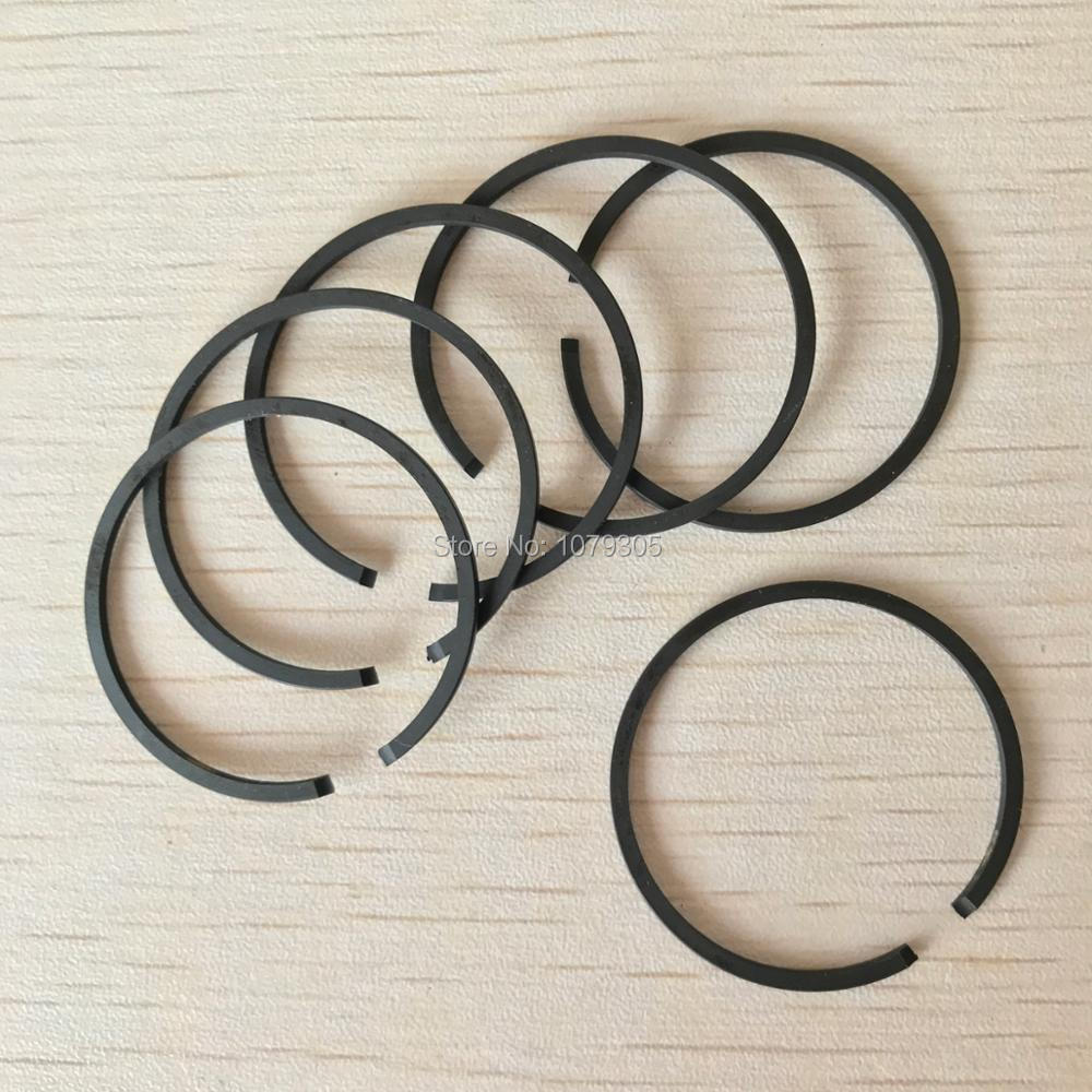 6PCS Brush Cutter Piston Ring 36mm*1.5mm Fit CG360 BC360 33CC Cylinder Piston Parts Replacement