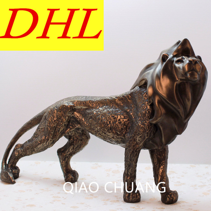 Фото European NEW Avoiding Evils Lion Creative Decorations Modern Home Living Room Entrance Hall Ornaments Exquisite Resin Craft S505