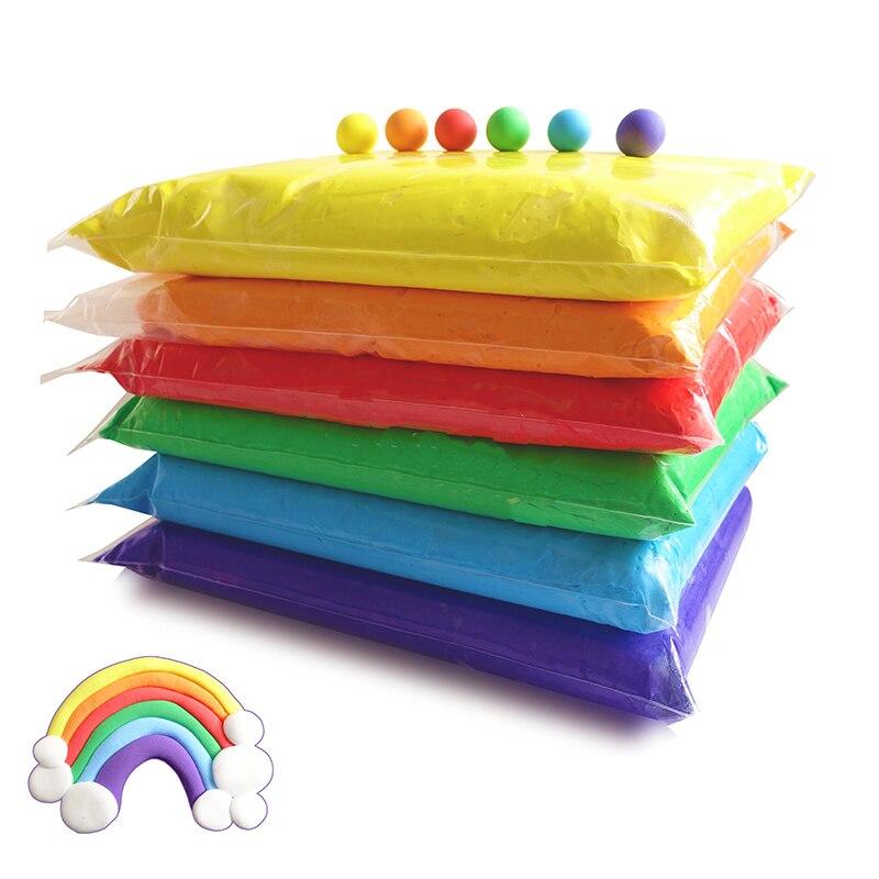 Modelagem em Argila luz Plasticina Argila do Polímero Ar Seco Super Luz Suave DIY Handgum Criativo Brinquedos Educativos 24 Cor 500G /saco 1