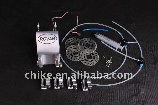 CNC 4x4ดิสก์เบรกไฮดรอลิสำหรับขนาด1/5 ROVAN FGมอนสเตอร์ขนาดใหญ่-ใน ชิ้นส่วนและอุปกรณ์เสริม จาก ของเล่นและงานอดิเรก บน   1