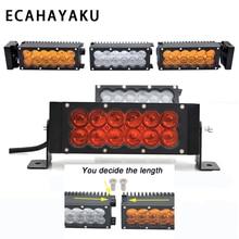 ECAHAYAKU 180w 2Row DIY length 22 LED Work Light Bar For Truck Atv 4x4 Off road Combo Beam Amber White Warning Barra Fog Lights