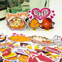 40pcs/bag cute Cartoon food album Scrapbook waterproof decoration stickers DIY Handmade Gift Scrapbooking sticker