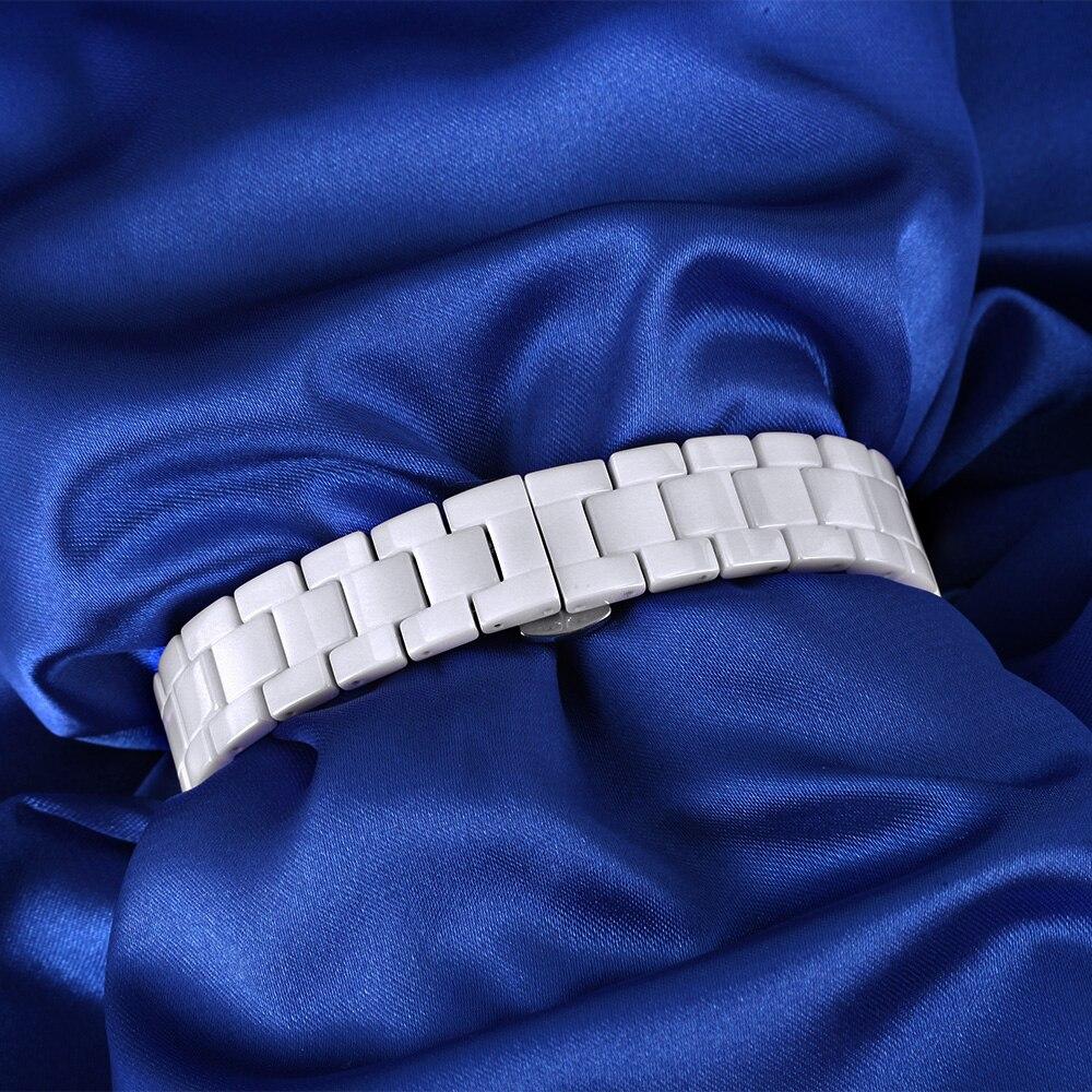 Saat100 Yeni Qadın Seramik Qol Saatları Lüks Moda ağ Yüksək - Qadın saatları - Fotoqrafiya 5