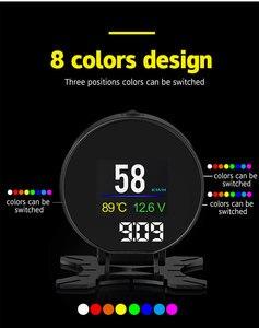 Image 5 - جهاز عرض P15 HUD للسيارة مزود برأس علوي 2.8 بوصة جهاز قياس رقمي ذكي للسيارة مزود بشاشة عرض HUD جهاز إنذار للسرعة الزائدة