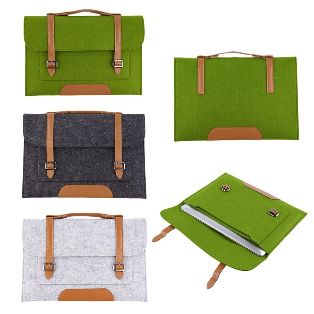 13 inch Woolen Felt Laptop Cover Case Notebook Sleeve Bag Pouch For Apple Macbook Pro Air for laptop tablets notebook