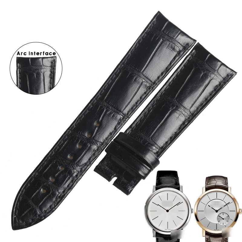 WENTULA watchbands for PIAGET G0A34113/G0A33112 alligator skin /crocodile grain watch band man