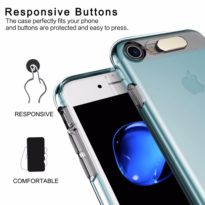 Led Flash Case for iPhone 6 6s plus, ROCK Light Flash Calling notice Tube series phone case for iPhone 6 6s plus cover