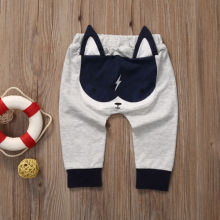 Повседневные штаны для малышей; популярные штаны-шаровары с героями мультфильмов для малышей; брюки с рисунками животных для маленьких мальчиков