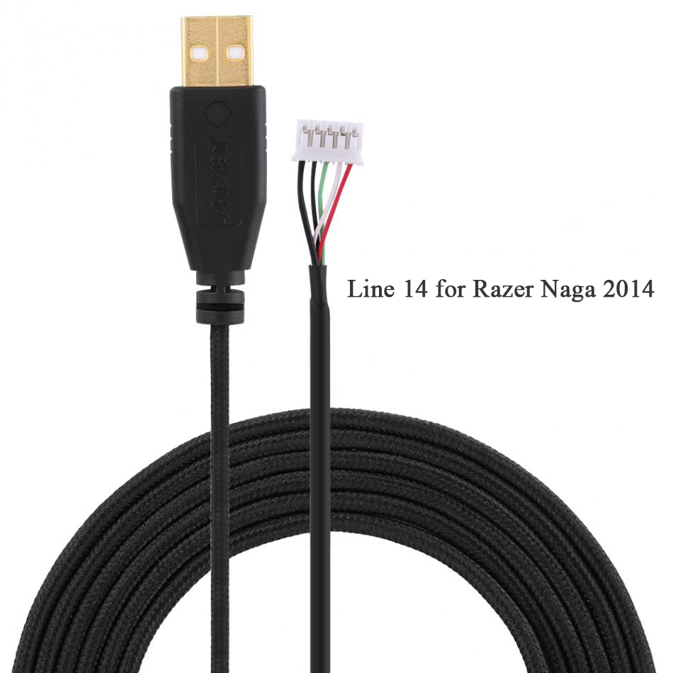 все цены на USB Mouse Cable for Razer Naga 2014 Line 14 Replacement Line for Razer Naga Wire