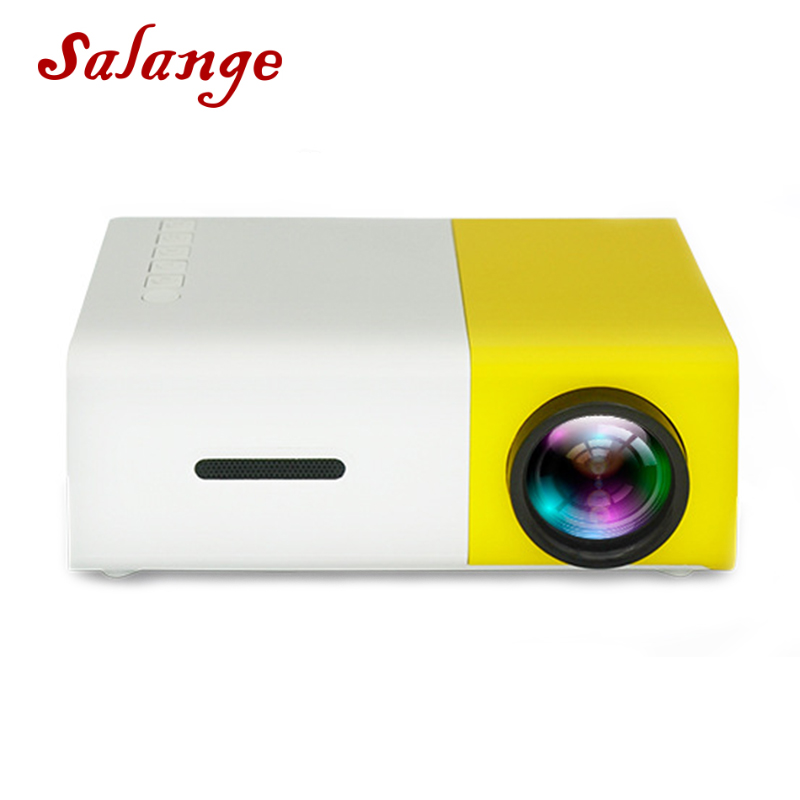 Salange YG-300 Mini LCD LED Projector YG300 Projector 400-600LM 1080P Video 320x240 Pixel Best Home Proyector(China)