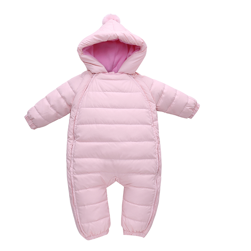 Baby Snowsuit Duck Down Rompers Bebe Clothes Overalls Kids Newborn Winter Clothes Windproof Girl Boy Warm Winter Rompers Hooded купить в Москве 2019
