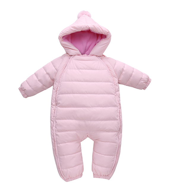 b576ba4afe35 Baby Snowsuit Duck Down Rompers Bebe Clothes Overalls Kids Newborn Winter  Clothes Windproof Girl Boy Warm Winter Rompers Hooded