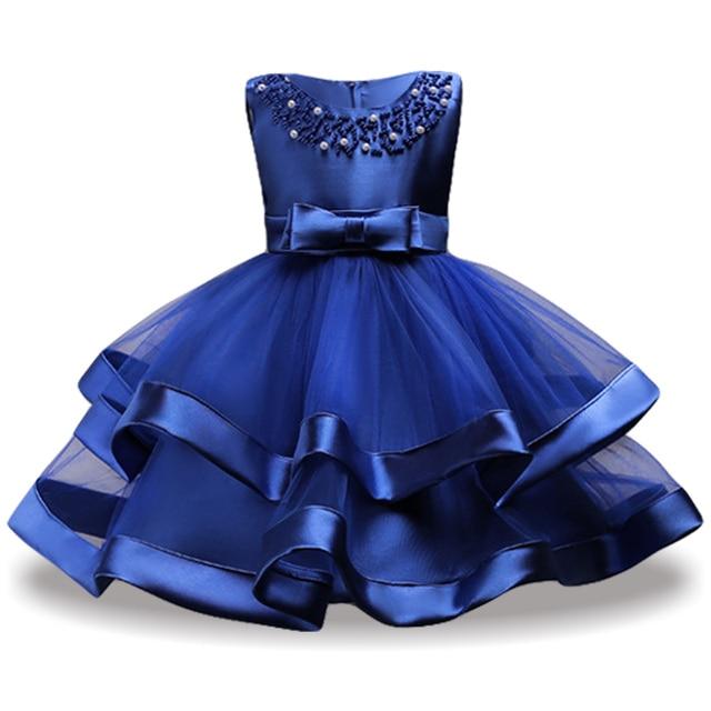 2018 Summer Elegant Kids Party Dresses For Girls Princess Dress Flower Girl Wedding Dress ...