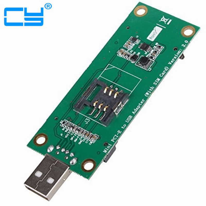Free shipping Mini PCI-Express pcie pci express PCI-E Wireless WWAN to USB Adapter Card with SIM Card Slot Module Testing Tools free shipping s9 t9 controlboard xc7z010 socket 754 pci express x16 tested well