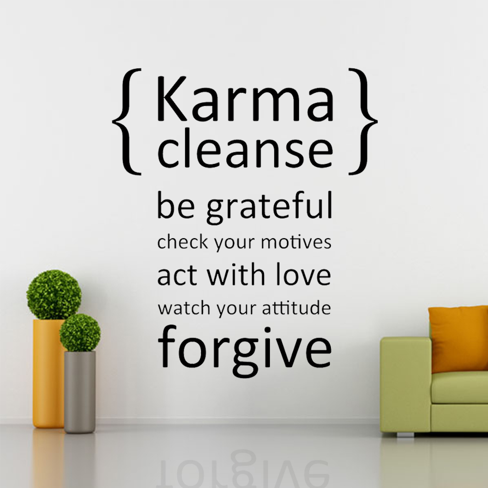 Karma Cleanse Happiness Decal Wall Decal Quote Vinyl Wall Stickers - Wall decals quotes bible