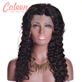 Glueless Full Lace Wigs Peruvian Deep Wave Wig Human Curly Lace Front Wigs 130 Density Full Lace Human Hair Wigs For Black Women