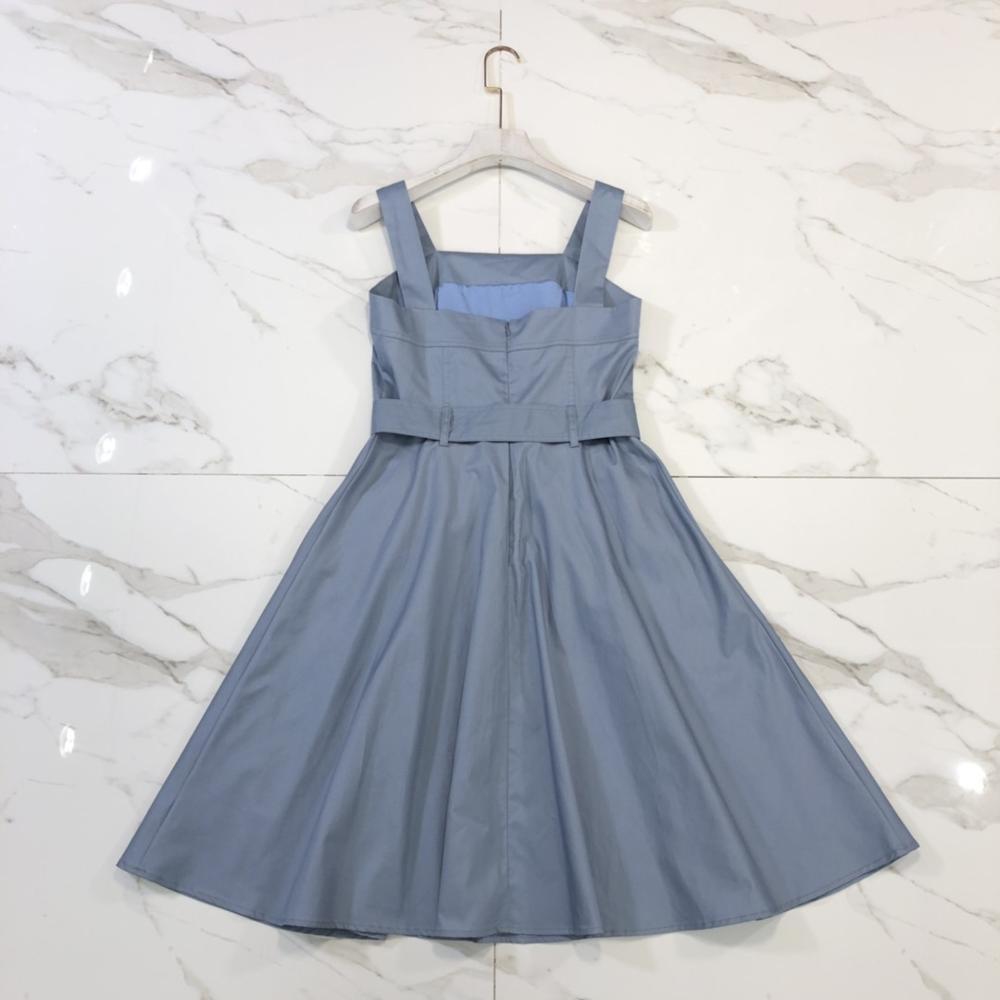 Chic femmes maille patchwork Denim robe 2019 été pistes sexy robe slip mode femmes robe de soirée A359