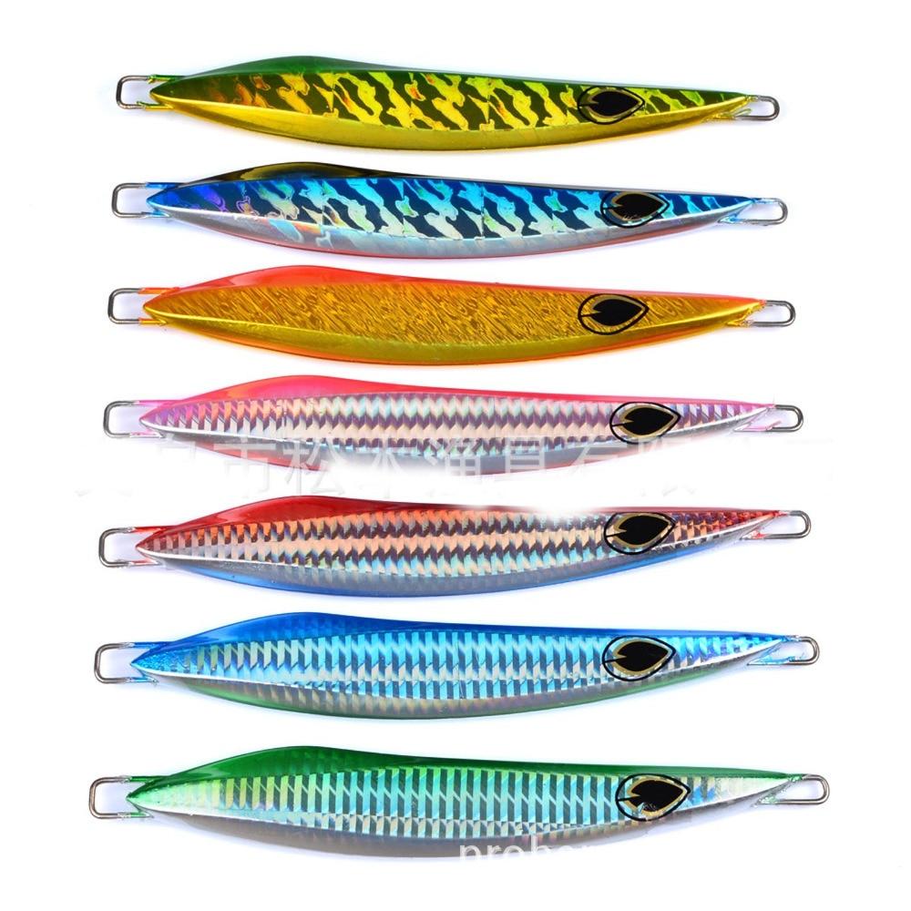 5PCS Slow Jig Glow Fishing Deep Sea Ocean Boat Rock Beach Metal Jigging Jigbait Spoon Lure baits 175g/16cm