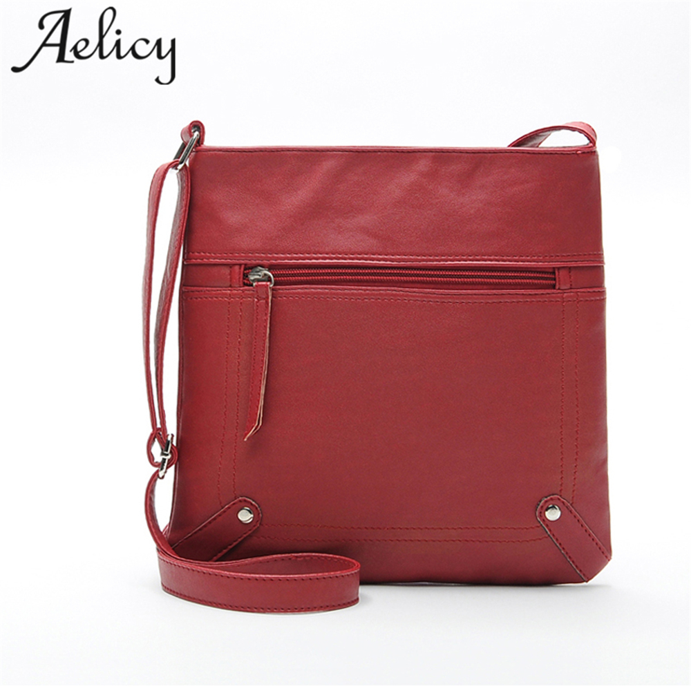 Aelicy Business Women PU Leather Crossbody Bags Office Lady Shoulder Bag Fashion Designers Handbags Female Sacs A Main Femmes